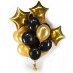 Из черно-золотых шаров