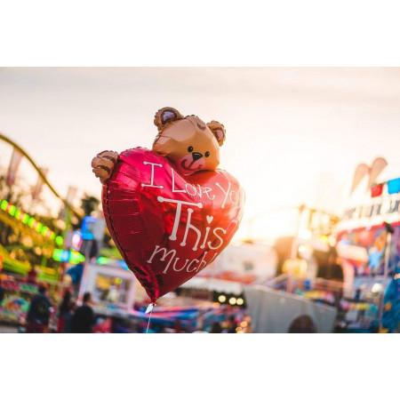 шар сердце с медведем
