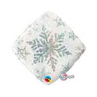 Ромб Снежинка белый голография