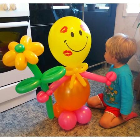 Человечек-смайл из шаров