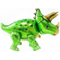 Ходячая Фигура, Динозавр Трицератопс, Зеленый