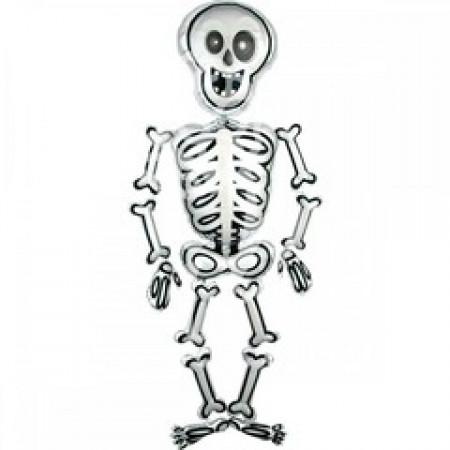 шары на хеллоуин фигура скелета